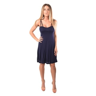 Versace Jeans Women Crepe Viscosa Leen Dress Navy