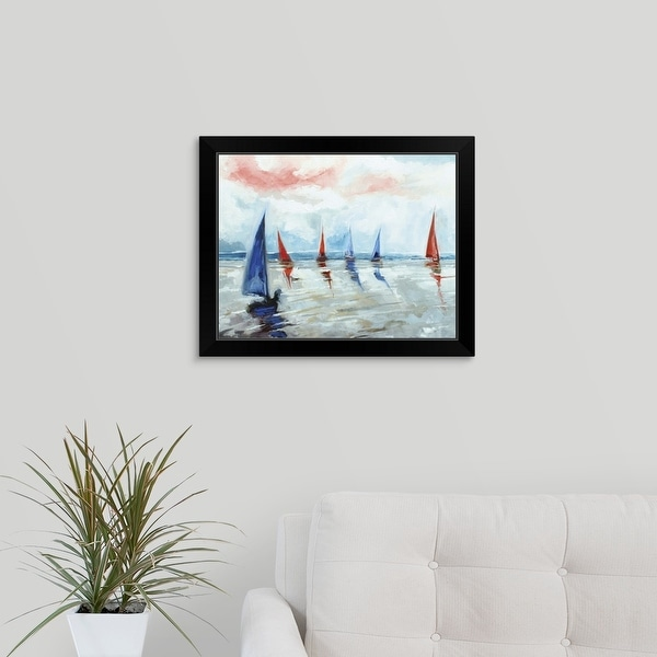 Stuart Roy Economy Framed Print with Standard Black Frame entitled Sailing Boats Regatta