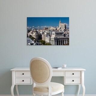 Easy Art Prints Walter Bibikow's 'Plaza de la Cibeles' Premium Canvas Art