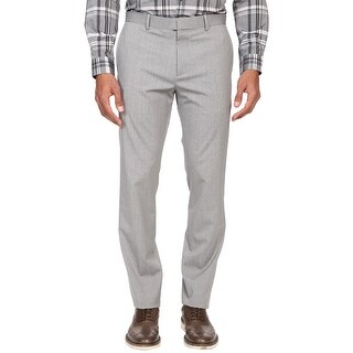 Theory Marlo New Tailor Slim Fit Flat Front Dress Pants Alloy Grey