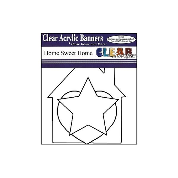 Clear Scraps Banner Clear 7pc Home Sweet Home