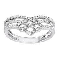 1/4 ct Diamond Chevron Ring in 10K White Gold