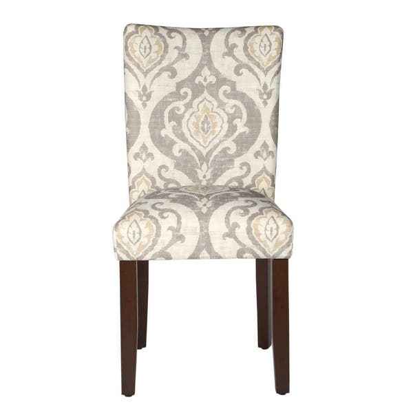 Homepop Classic Parsons Dining Chair Suri Brown Set Of 2 On Sale Overstock 12098187