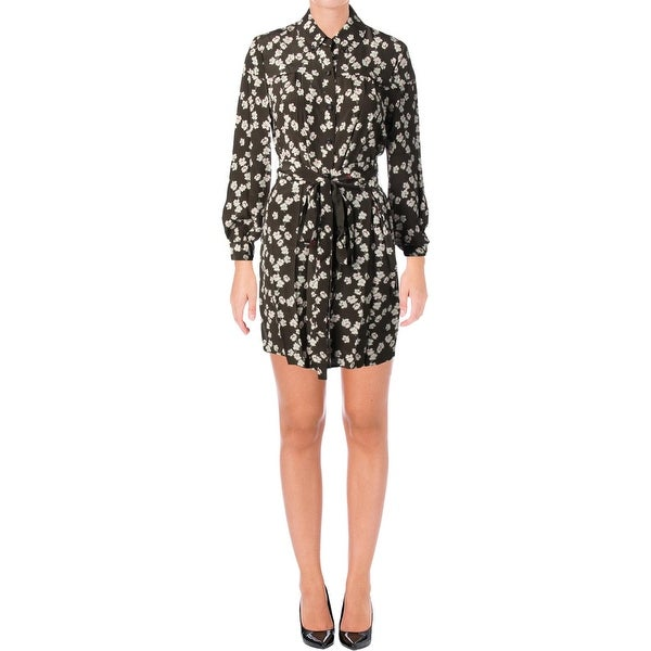 Juicy Couture Black Label Womens Abbey Shirtdress Silk Mini. Click to Zoom 7c255caf2