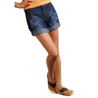Roper Western Shorts Womens Zip Tab Denim Indigo