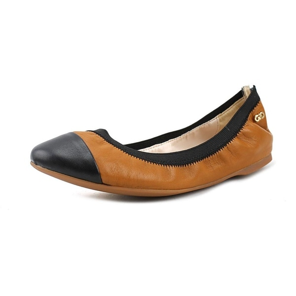 Cole Haan Elbridge Ballet II Women Round Toe Leather Tan Ballet Flats.  Click to Zoom