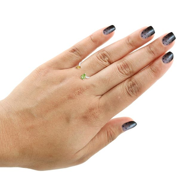 Silver 925 Peridot Quartz Overlay Handmade Finger Ring Jewelry