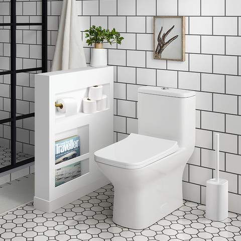 Carre One Piece Square Toilet Dual Flush 0.8/1.28 gpf