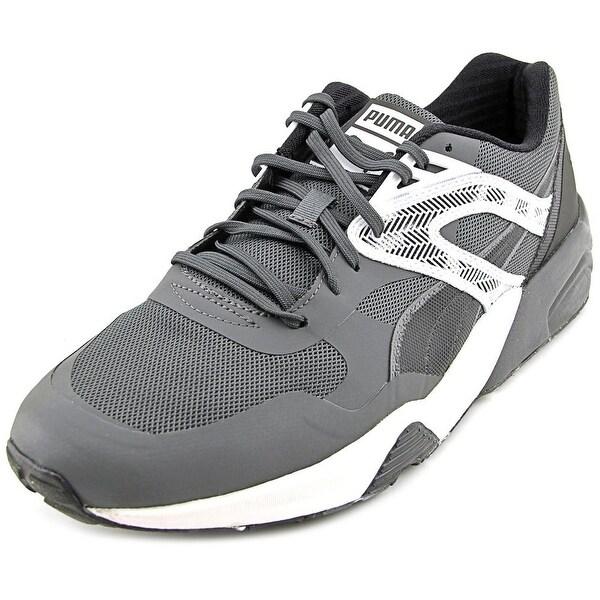 Puma R698 TK Graphic Men  Round Toe Canvas Gray Sneakers