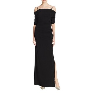 Laundry by Shelli Segal Womens Evening Dress Off-The Shoulder Side Slit
