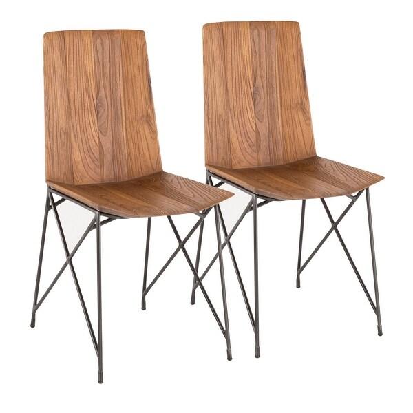 Carbon Loft Jamal Industrial Metal and Teak Wood Chair (Set of 2). Opens flyout.
