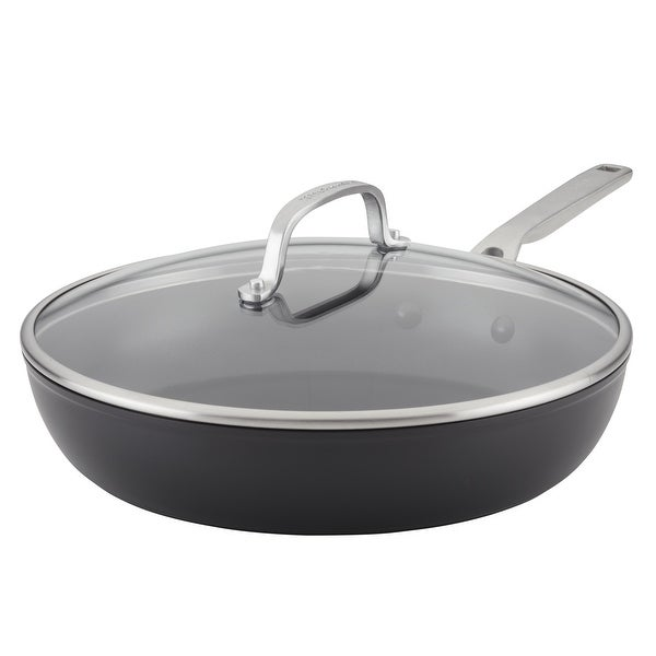 """KitchenAid Hard-Anodized Induction Nonstick 12.25"""" Frying Pan. Opens flyout."""