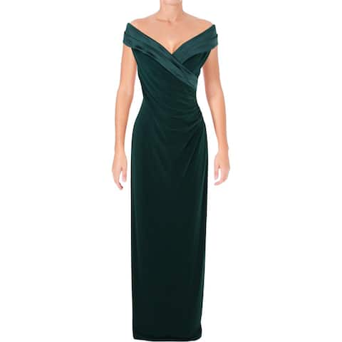 b28d124641 Lauren Ralph Lauren Womens Evening Dress Jersey Off-The-Shoulder