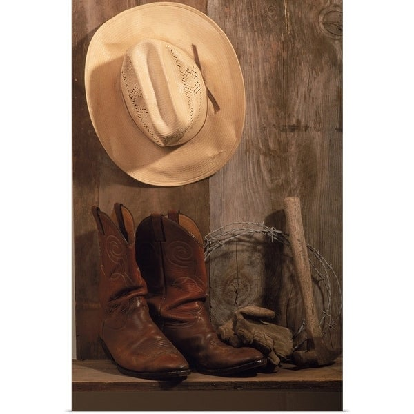 Shop Poster Print entitled Cowboy hat and boots 29150509966