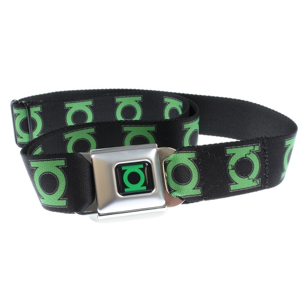 Green Lantern Logo Seatbelt Belt-Holds Pants Up