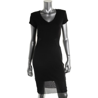 Rachel Roy Womens Casual Dress Modal Blend Mesh Inset