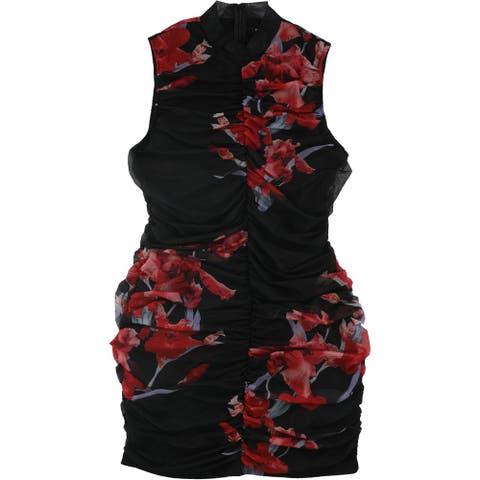 GUESS Womens Greta Mini Dress, Black, X-Large