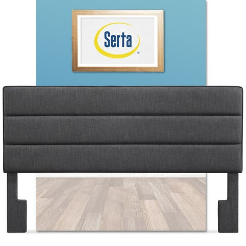 Serta Palisades Upholstered Headboard, King Size, Charcoal Gray
