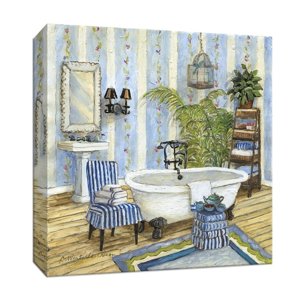 """PTM Images 9-146884 PTM Canvas Collection 12"""" x 12"""" - """"Guest Ready II"""" Giclee Bathroom Art Print on Canvas"""