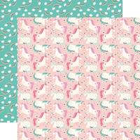 "Imagine That Girl Double-Sided Cardstock 12""X12""-Unicorn Party"