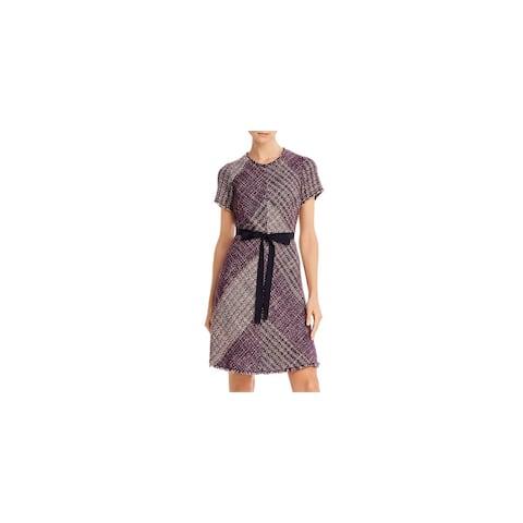 REBECCA TAYLOR Black Short Sleeve Above The Knee Dress 2