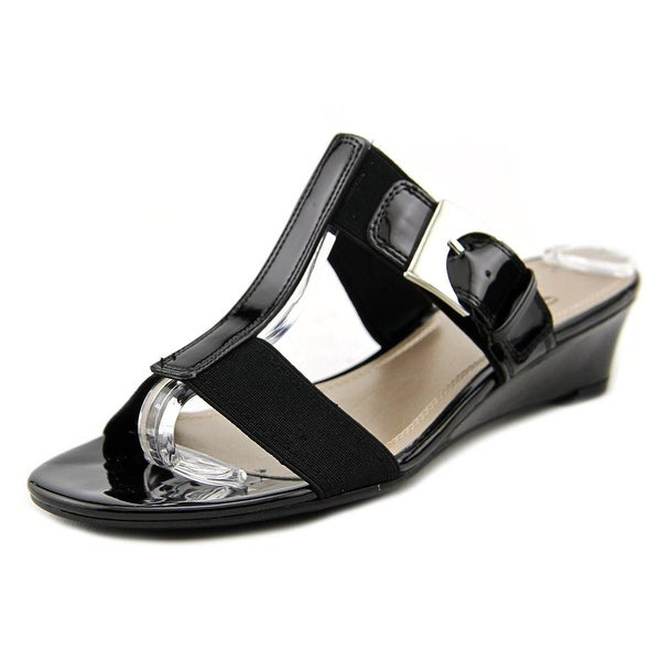 Impo Relly Women Open Toe Synthetic Black Wedge Sandal