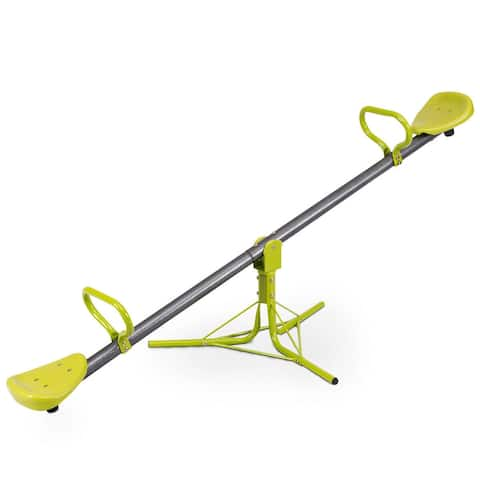 Gymax Kids Seesaw Teeter Totter Outdoor Play Set 360 Degree Rotation