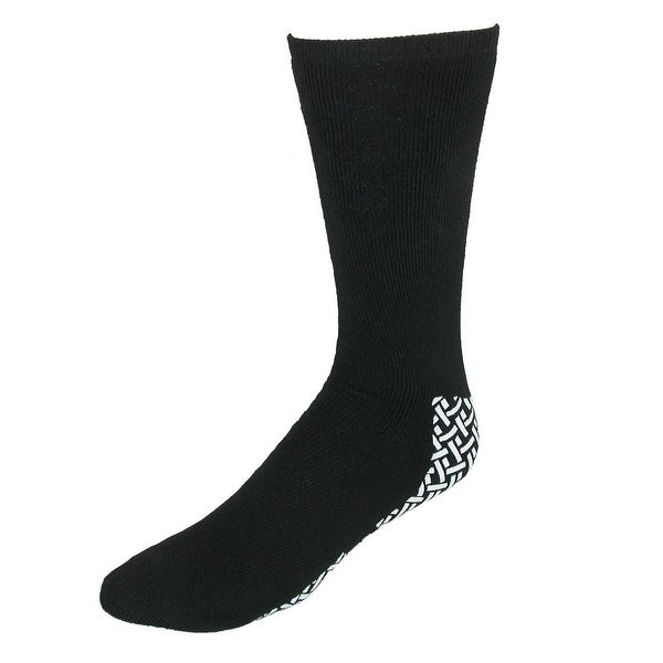 tru fit Men's Slipper Socks with Brushed Lining