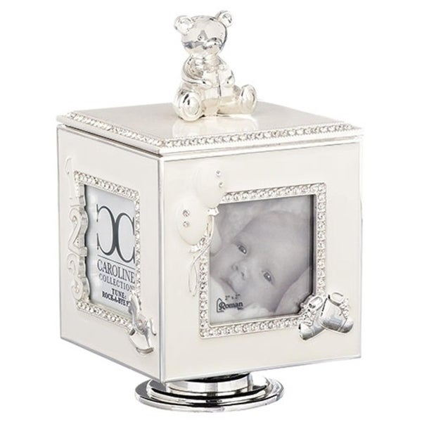 Shop Set Of 2 Silver Musical Cubes With 4 Photo Picture Frames 6