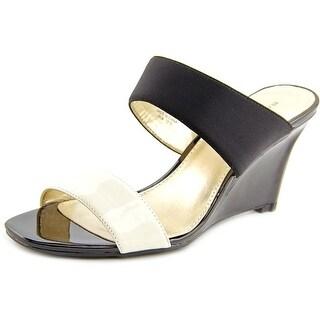 Bandolino Jadzia Women  Open Toe Synthetic Black Wedge Sandal