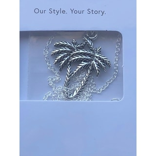 Handmade Tropical Palm Beach Coconut Tree Sterling Silver Pendant Necklace (Thailand)