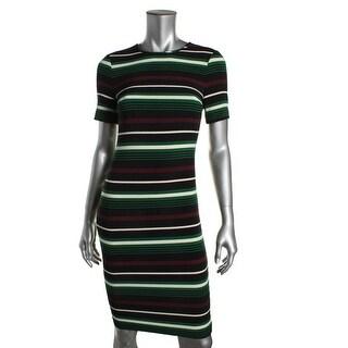 MICHAEL Michael Kors Womens Striped Sheath Wear to Work Dress