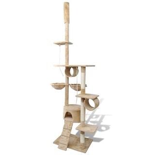 """vidaXL Cat Tree Scratching Post 87"""" - 94"""" 1 Condo Beige"""
