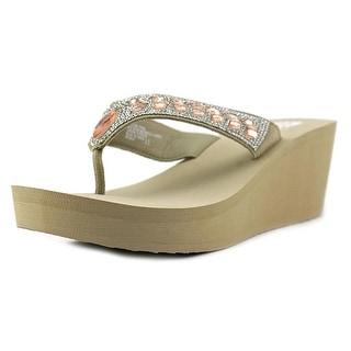 Yellow Box Belmac Women Open Toe Synthetic Brown Wedge Sandal