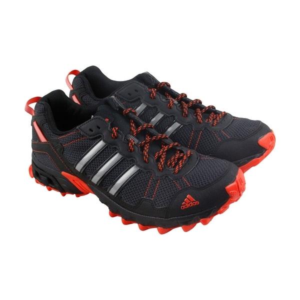 4b1e3b98241a0 Shop Adidas Rockadia Trail Mens Black Mesh Athletic Lace Up Running ...