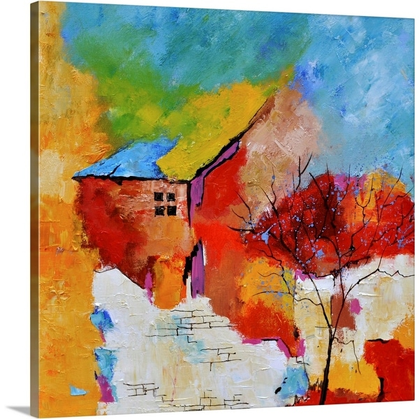 """Abstract House 774130"" Canvas Wall Art"