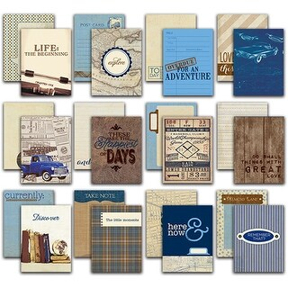 """Rugged Authentic Life Cards 36/Pkg-3""""X4"""" Pocket Crafting & Journaling Cards"""