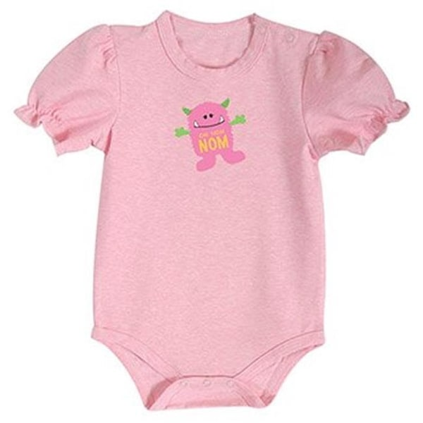 Stephan Baby 698037 6 - 12 Months Pink Monster Snap Shirt - Pack of 4