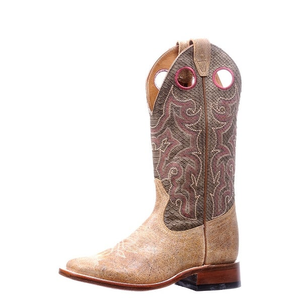 Boulet Western Boots Womens Cowboy Leather Square Zermat Baleari