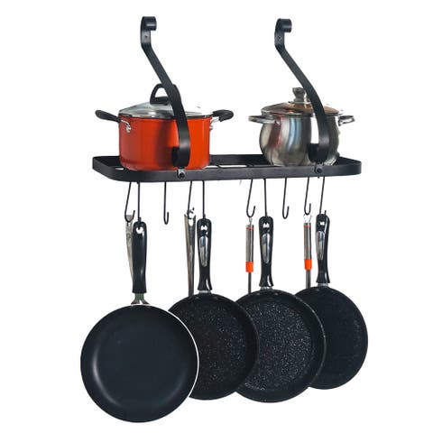 Wall Mount Pot Pan Rack with 10 Hooks