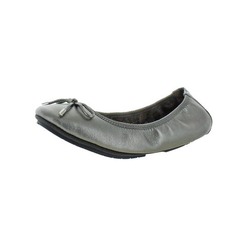 Me Too Womens Halle52.0 Ballet Flats Leather Metallic
