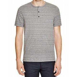 Michael Kors NEW Gray Mens Size L Henley Space Dye Short Sleeve Shirt