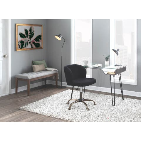 Silver Orchid Arthur Corduroy Task Chair
