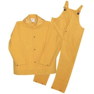 Boss 3PR0300YL Three Piece Rain Suit, 35 Mil, Yellow