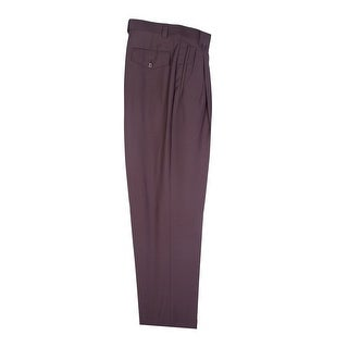 Brown Wide Leg Dress Pants Pure Wool by Tiglio Luxe