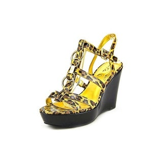 Marc Fisher Genre Open Toe Synthetic Wedge Sandal