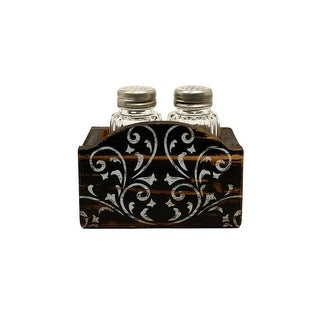 Western Moments Shakers 3 Piece Set Dark Stain Distressed Black 94115