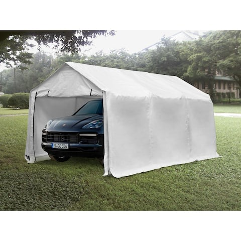 Ainfox 17x10ft Heavy Duty Enclosed Carport Canopy with Sidewalls Waterproof Garage Car Shelter Storage shed