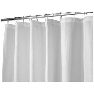 "Interdesign 22980 Carlton Fabric Shower Curtain, 72"" x 84"", White"
