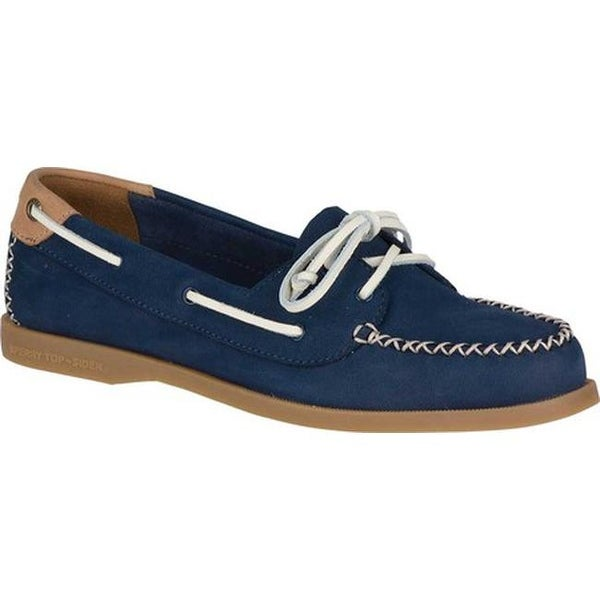 d7c4e072893f Sperry Top-Sider Women's Authentic Original Venice Boat Shoe Navy  Leather